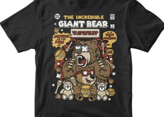 The Incredible Bear t shirt designs for sale
