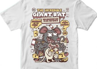 The Incredible Giant Rat t shirt design for purchase