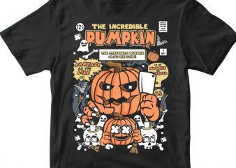 The Incredible Pumpkin t shirt designs for sale
