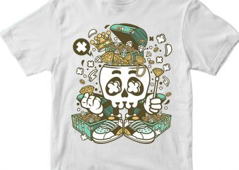 Treasure Skull Head t shirt designs for sale