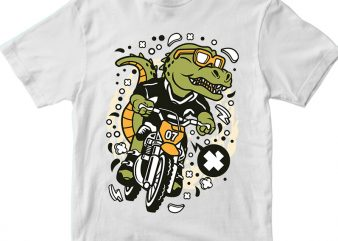 Trex Motocross Rider t shirt designs for sale