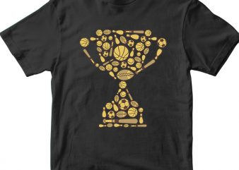 Trophy t shirt designs for sale