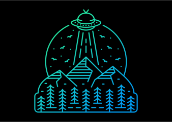 Ufo Invasion 599 t shirt vector graphic