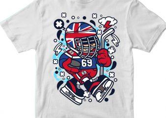 United Kingdom Hockey Kid t shirt vector graphic