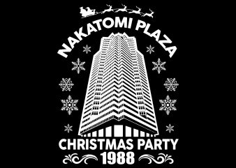 Nakatomi Plaza svg, Christmas Party 1988 svg, merry christmas 1988 svg T shirt vector artwork