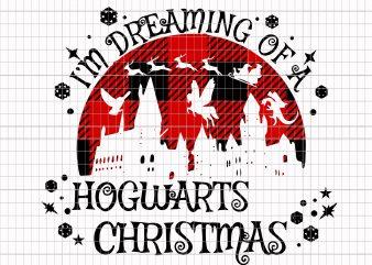 I'm dreaming of a Hogwarts christmas t shirt design for sale