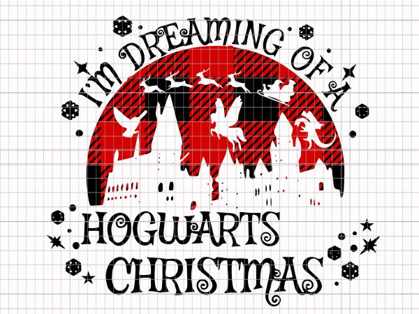 I'm dreaming of a Hogwarts christmas t shirt design for sale