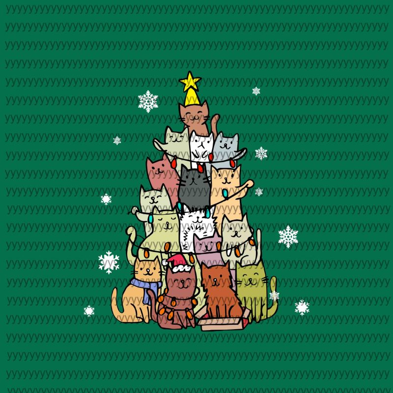 4 design, Merry Catmas Svg, Merry Catmas Funny Cats Christmas Tree Xmas Svg, Merry Woofmas svg, Merry Woofmas Christmas Dog Fan svg, Png, Dxf, Eps file buy t shirt designs artwork