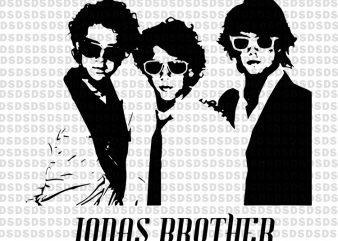 Jonas brother vector clipart