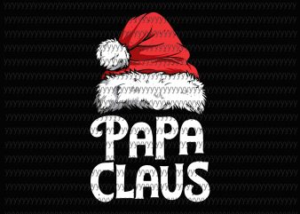 Papa Claus svg, png, dxf, eps file print ready vector t shirt design