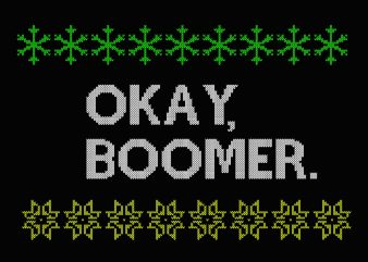 OK Boomer Knitting svg, OK Boomer for Teenagers Millenials Gen Z Funny Meme svg, png, dxf, eps tshirt design vector