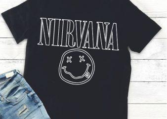 Nirvana smile,Nirvana smile svg T shirt vector artwork