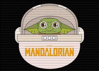 Star Wars svg, The Mandalorian The Child Svg, Baby Yoda Svg, star wars svg t shirt template vector