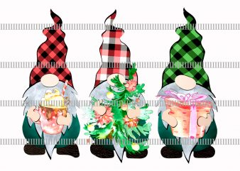 Three gnomies christmas png,Christmas Gnomes png t shirt designs for sale
