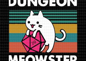 Dungeon meowster svg,Dungeon meowster t shirt vector illustration