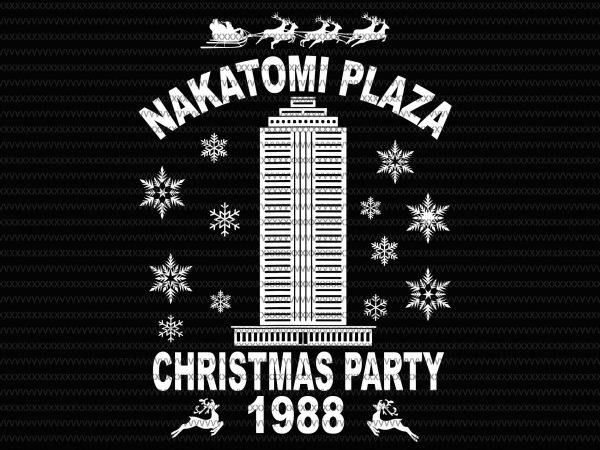 Nakatomi Plaza svg, Christmas Party 1988 svg, merry christmas 1988 svg T shirt vector artwork