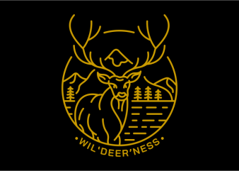 Wildeerness t shirt design for purchase
