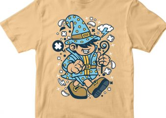Wizard Kid t shirt design for sale