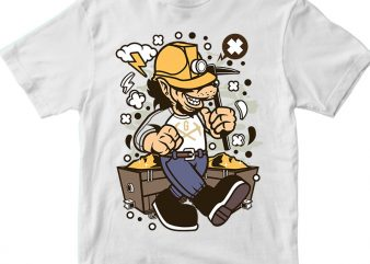 Wolf Gold Miner t shirt design for sale
