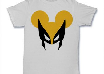 Wolvemouse t shirt design template