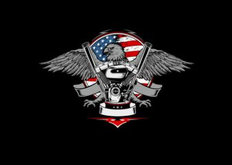 American Eagle Machine Vector t-shirt design