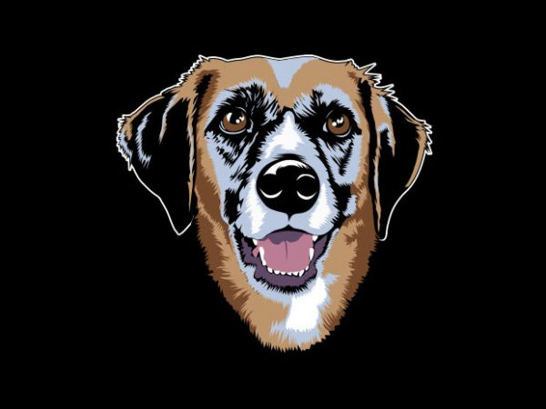 Golden Dog Vector t-shirt design