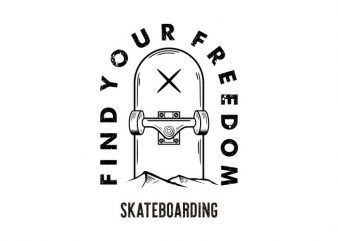 skateboarding Vector t-shirt design