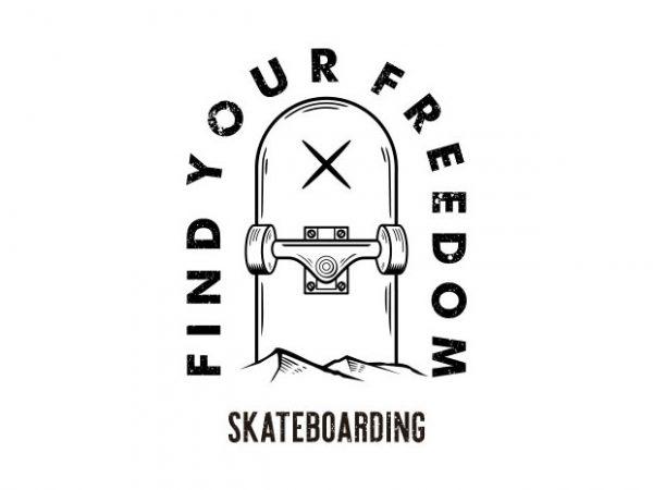 skateboarding Vector t-shirt design
