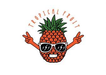 tropical fruit Vector t-shirt design