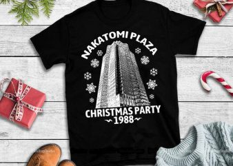 Nakatomi plaza christmas party 1988 svg,Nakatomi Plaza Christmas Party 1988,Nakatomi Plaza Christmas svg,Nakatomi Plaza vector t-shirt design for commercial use