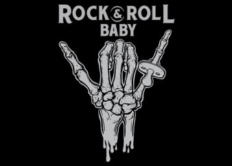 rock & roll baby Vector t-shirt design