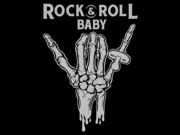 rock & roll baby Vector t-shirt design