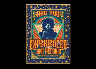are you experienced psychedelic t shirt vector