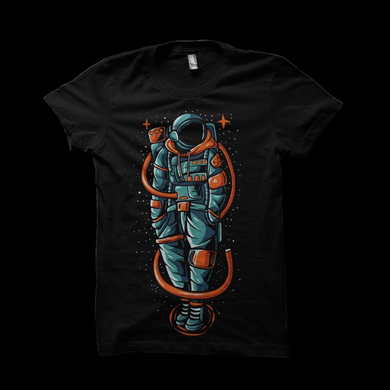 astronaut streetwear buy tshirt design