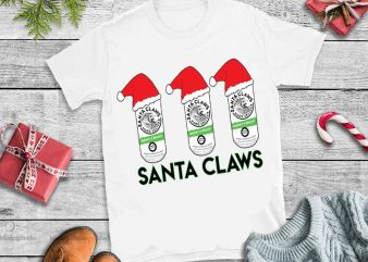santa claws,santa claws svg,santa claws design tshirt,t no laws when you drink with santa claus svg,santa no laws when you drink, Santa claws hard seltzer svg