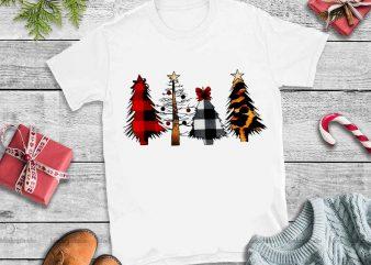 Merry Christmas Tree Leopard Buffalo Plaid png,Merry Christmas Tree Leopard Buffalo Plaid design tshirt