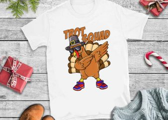 Trot squad turkey png,Trot Squad Turkey Face Funny Thanksgiving png t shirt design for sale