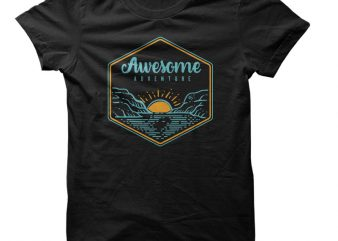 Awesome Adventure Vector t-shirt design