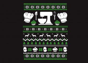 Baking Christmas t shirt template