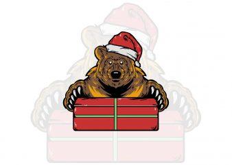 Bear Christmas t-shirt design