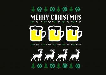 Merry Beer Christmas buy t shirt design artwork