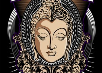 Budha T-shirt vector