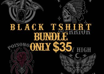 black tshirt bundle tshirt design