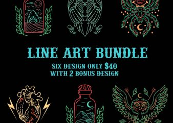 line art bundle tshirt design