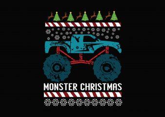 MOnster Christmas t shirt designs for sale