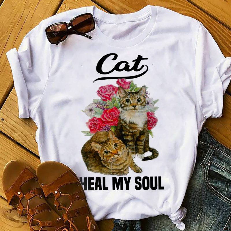 Cat t-shirt designs bundle