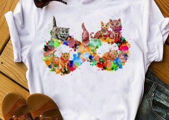 CAT INFINITY SYMBOL t shirt vector file