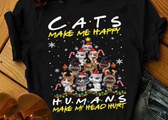 CAT MAKE ME HAPPY t shirt design to buy