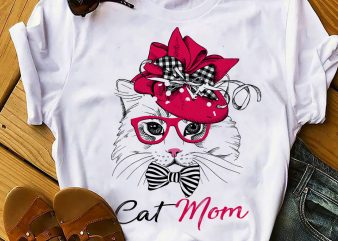 CAT MOM PINK buy t shirt design