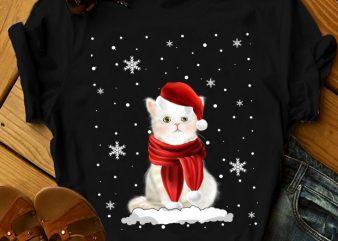 CAT SNOWMAN t shirt design for sale